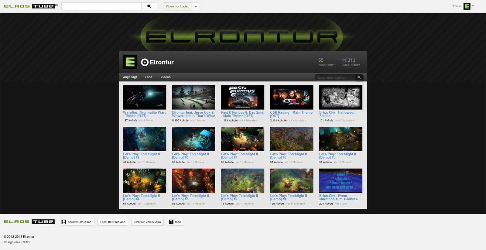 Webdesign Youtube 2012-Design